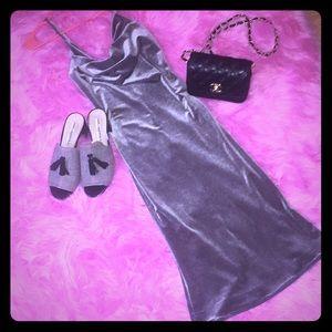 Sexy velvet midi dress